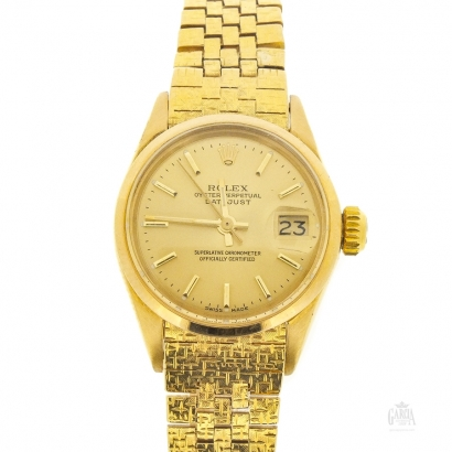 Rolex Oyster Datejust Lady Gold
