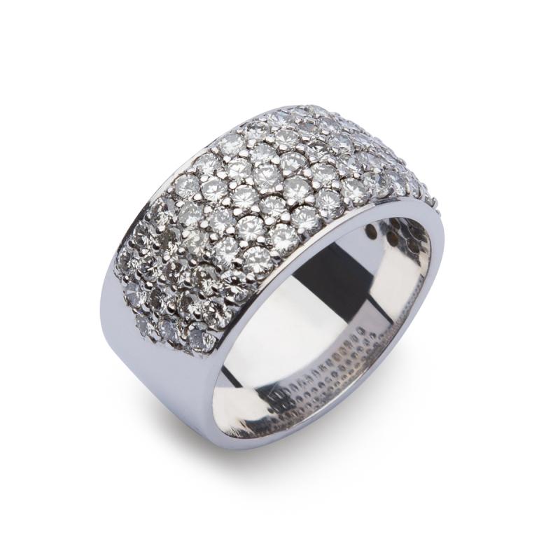 Sortija pavé diamantes