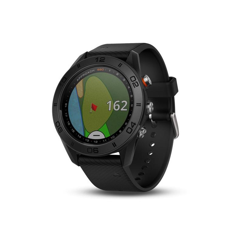 Garmin Approach® S60 negro con correa de silicona negra