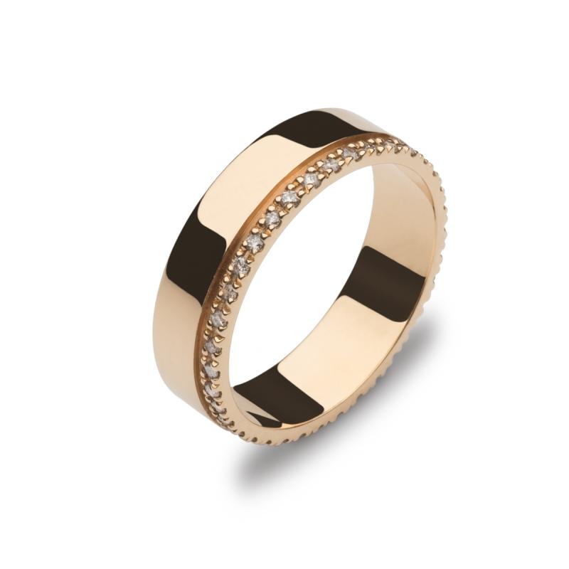 c1baacc00e29 Alianza oro rosa con diamantes 27-1134 Comprar