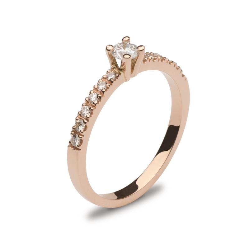 Sortija Oro Rosa y Diamantes
