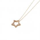 Gargantilla estrella de circonitas