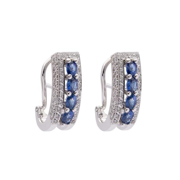 Pendientes zafiros y diamantes