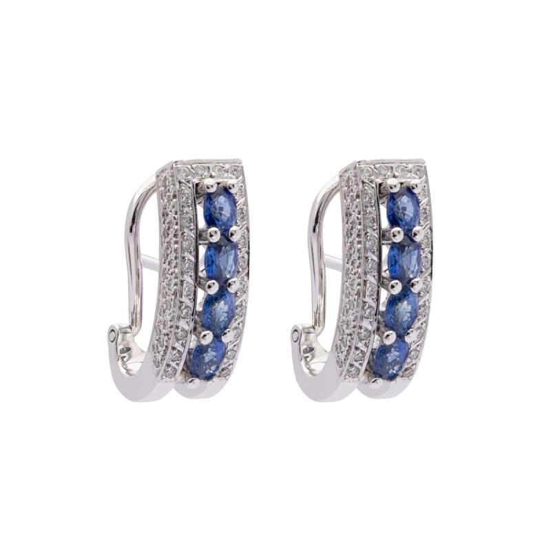 ebcdb7153a5d Pendientes zafiros y diamantes