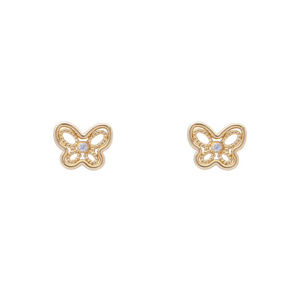 Pendientes mariposa niña