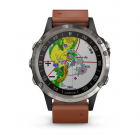 Garmin D2™ Delta Aviator Watch with Brown Leather Band 47mm