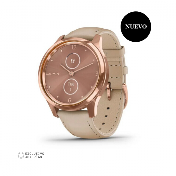 Garmin vívomove® Rose Gold - Piel beige