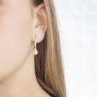 Pendientes largos perla